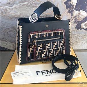 In Stores! Fendi Runway Python Top Handle Bag Tote